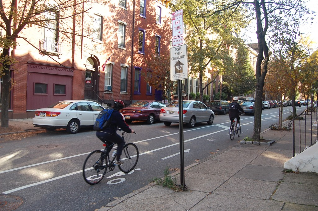 Spruce St bike lane