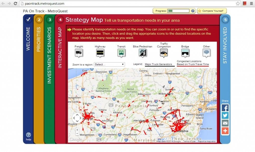 PennDOT survey screenshot