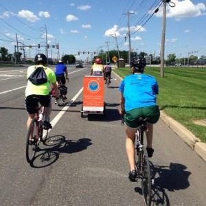 The Wash Cycle team biked 160 miles from Philly to DC for the opening of their DC location, bringing one of their delivery vehicles along for the ride.