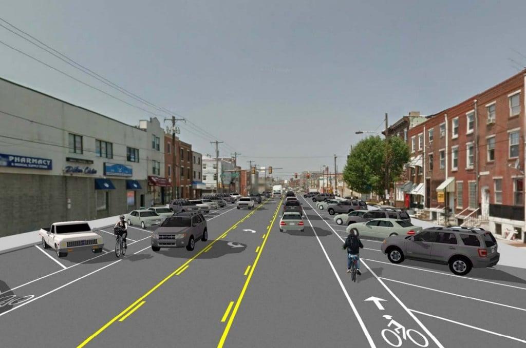 Washington Ave 3-lane concept