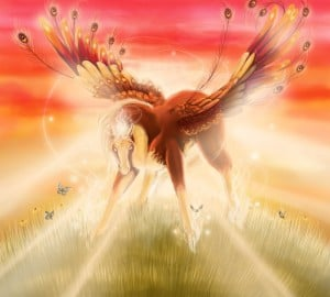 It's good, but that winged fairy horse is standing in the way of the sun. Move, winged fairy horse!