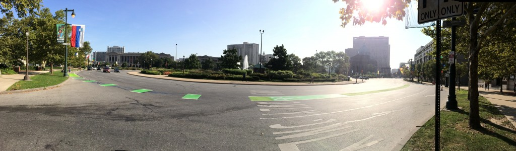 New green conflict zone at Logan's Circle (photo credit: Mayor's Office of Transportation & Utilities)