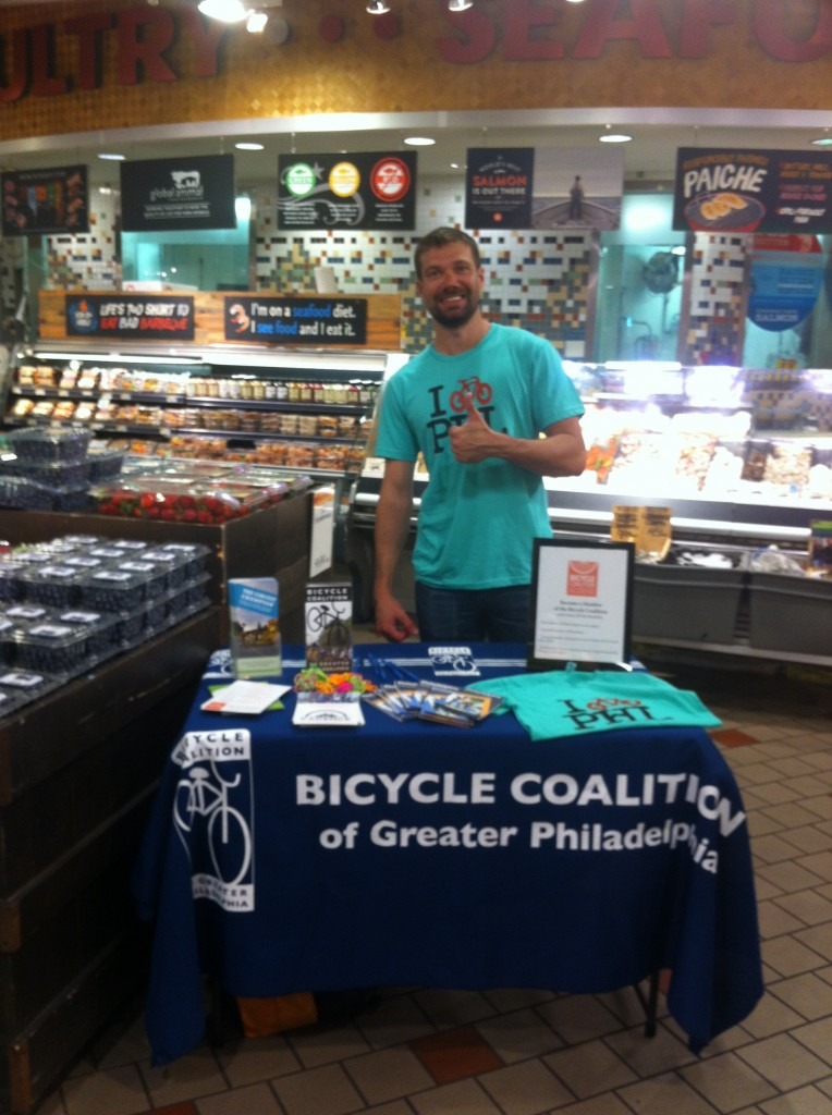 Max Hayes tabling at Whole Foods