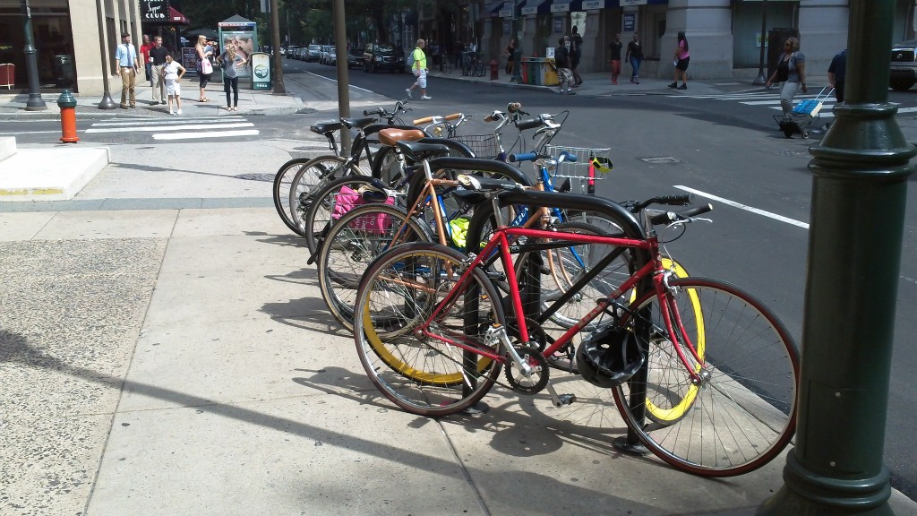2. COMPREHENSIVE BIKE PARKING POLICY – Quality bike parking is a crucial part of encouraging utility cycling in any city. All the bike lanes in the world aren't worth a dime, unless you give your citizens a convenient and secure place to lock their bike when they arrive at their destination. On that front, Vancouver has been reactive (rather than proactive), and a comprehensive bike parking policy – including a series of new zoning bylaws – is long overdue. Consider Portland, whose corral program converted 100 on-street parking spaces into room for over 2,000 bikes (followed by a predictable increase in economic activity, and a two-year waitlist). City Hall also runs a monthly, complimentary class to developers and Architects, teaching the intricacies of end-of-trip facilities for office towers and condominiums.
