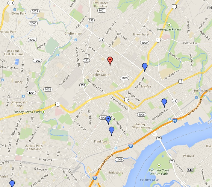 Map Of Northeast Philadelphia Submited Images