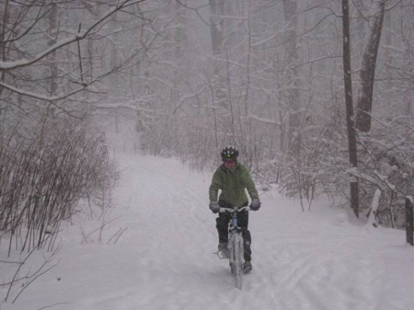 trail in snow