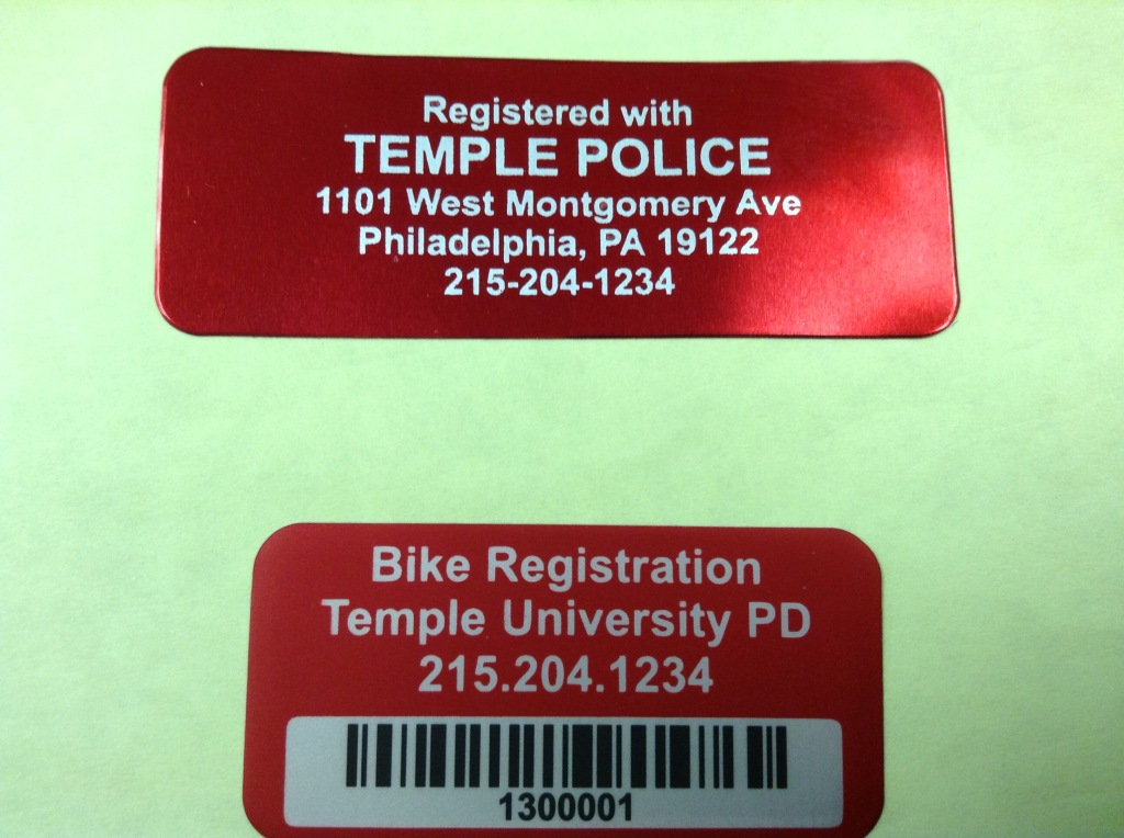 Bike Registration Sticker