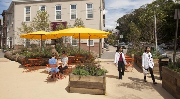 Woodland Green in University City. (Image via UniversityCity.org)