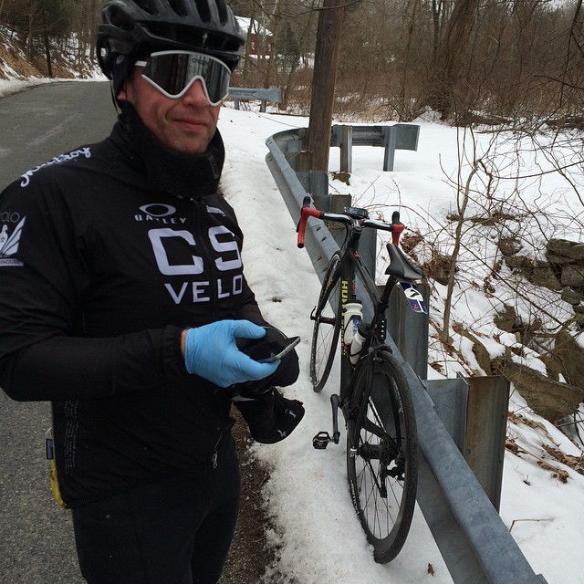 Philadelphia resident Adam Mullen rides all year.