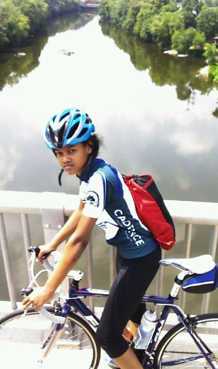 Cadence Youth Cycling Youth Advisory Committee Member and All Star Tamia Santiago