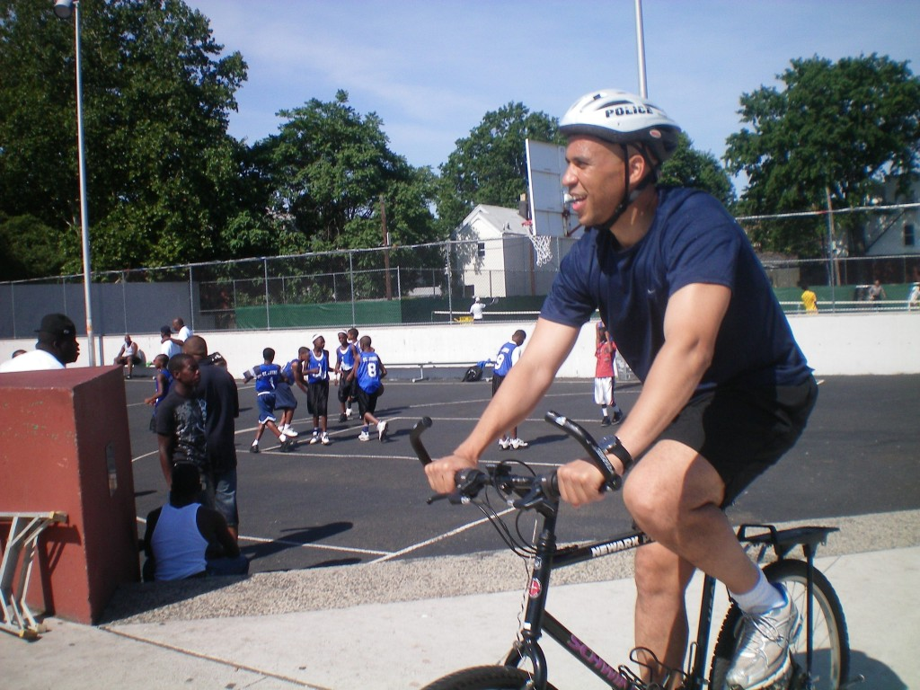 Sen. Cory Booker (D-NJ) -- on a bike!