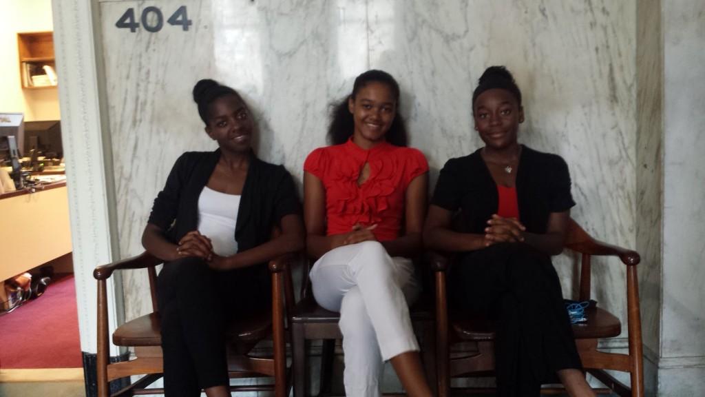 Cadence students Krystal Philson, Tamia Santiago, and Marlina Hardy