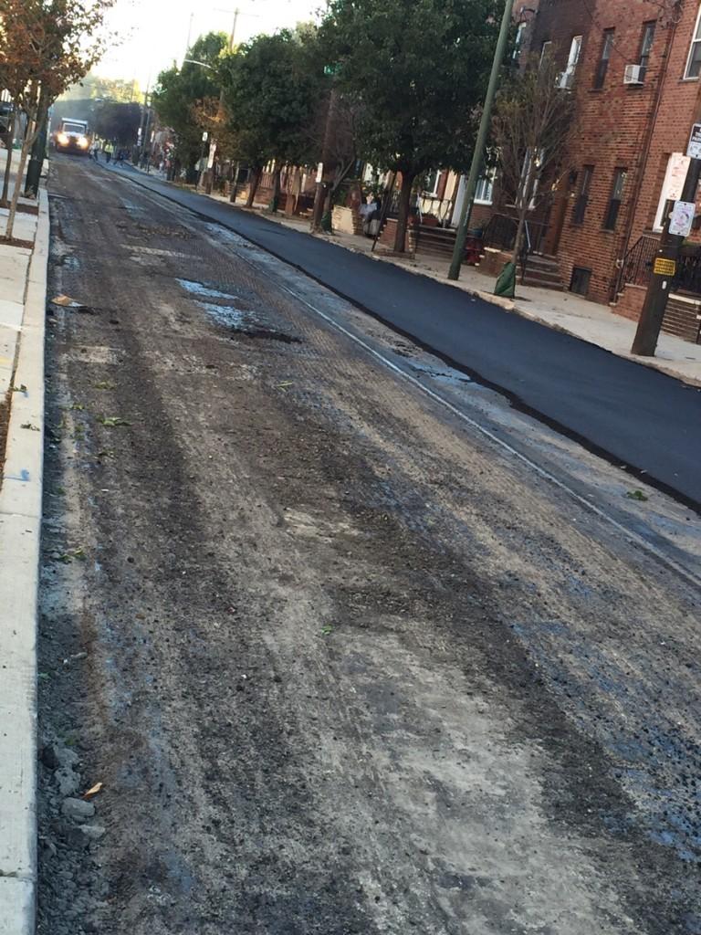 12th Street being repaved. (Image via Reddit)