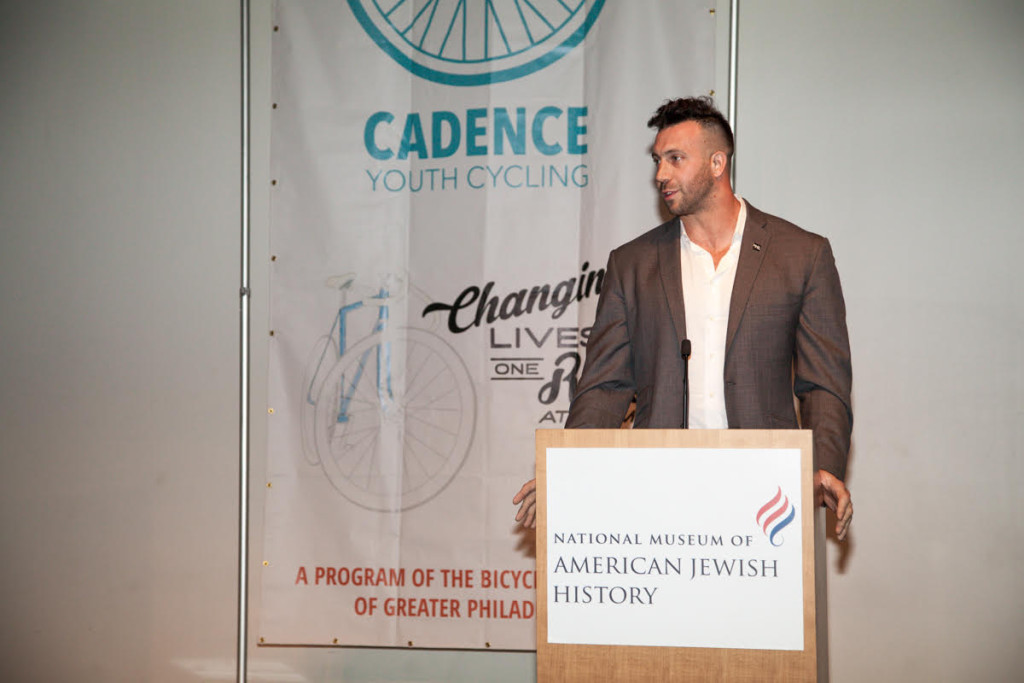 Philadelphia Eagle Connor Barwin speaks of the importance of cycling at the Cadence Gala.
