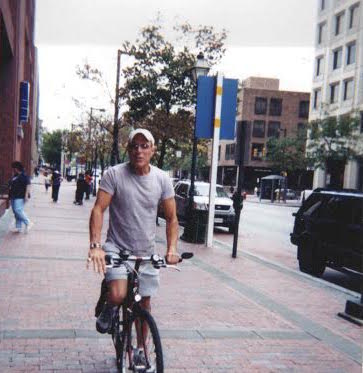 Jerry Blavat on his bike in Philadelphia.