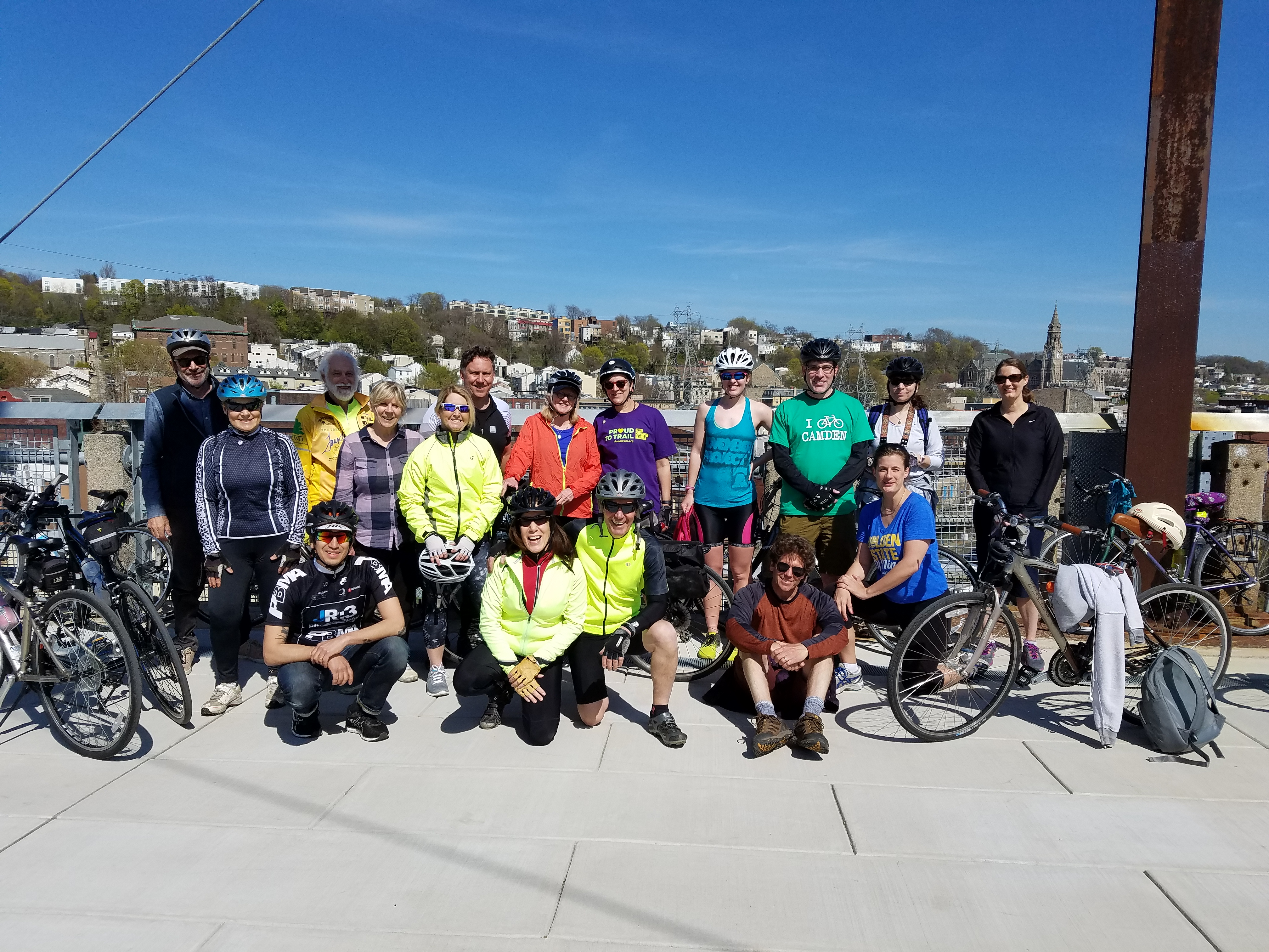 Participants who took part in the Barnes to Barnes ride