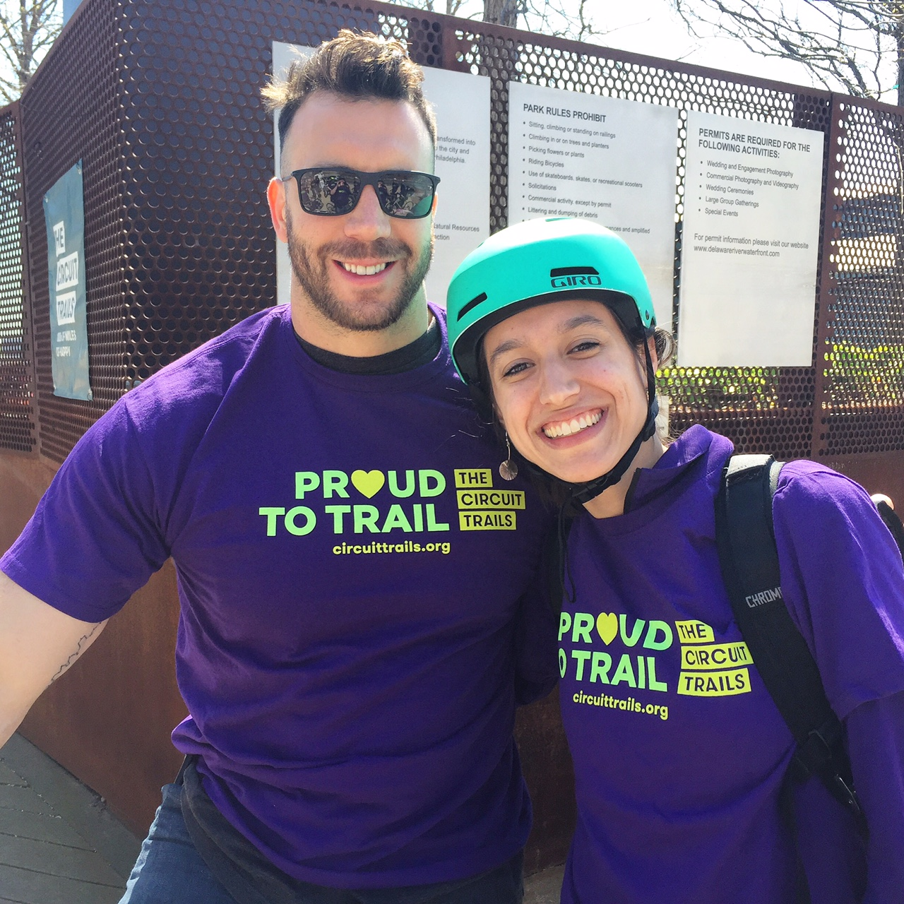 Connor Barwin with the Bicycle Coaltion's Better Bike Share Outreach Manager Katie Monroe