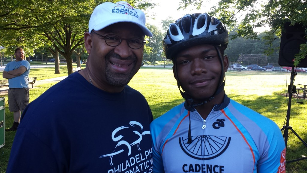 CYC Athlete Allen Williams with Former Mayor Nutter in 2015