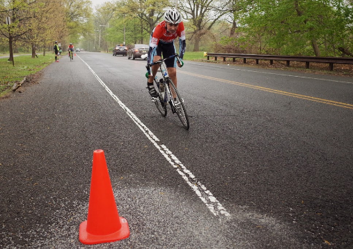 Shane White, one of our youngest athletes, sprints to the finish