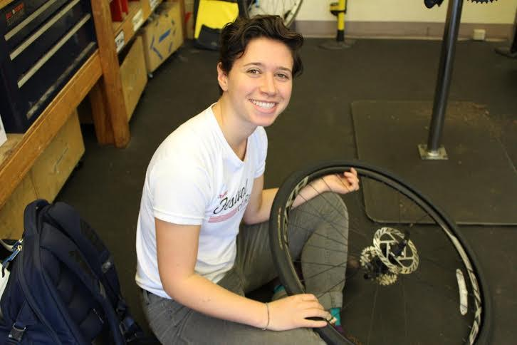 New Women Bike PHL intern Rebecca Fisher