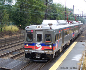 Septa Silverliner V train at Newark Train Station 9-27-10
