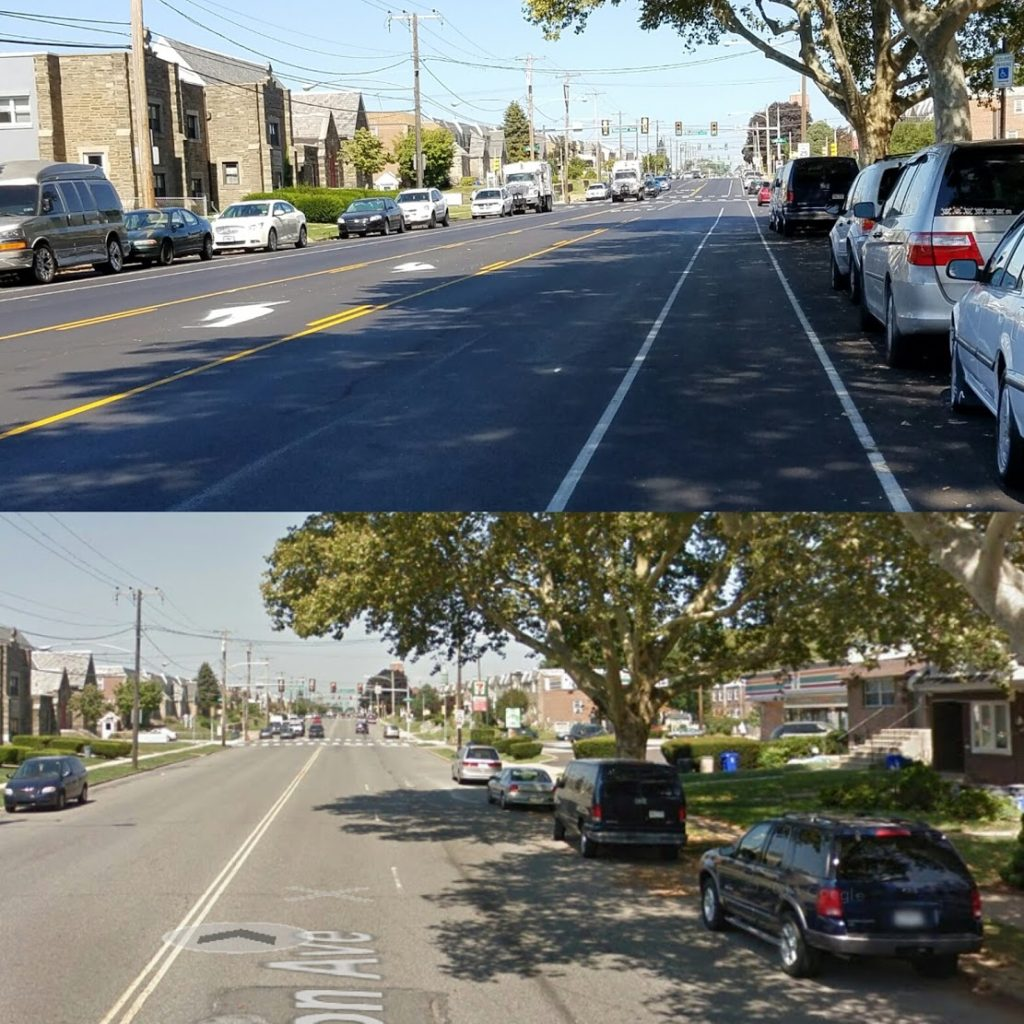 Tyson Avenue, before and after