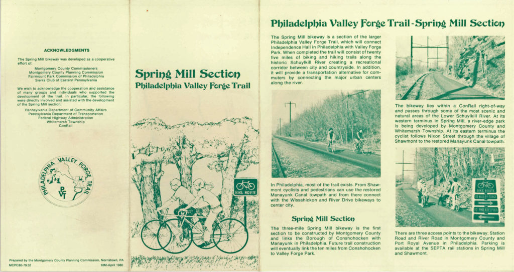 Shawmont to Spring Mill Trail Brochure 1980-p1