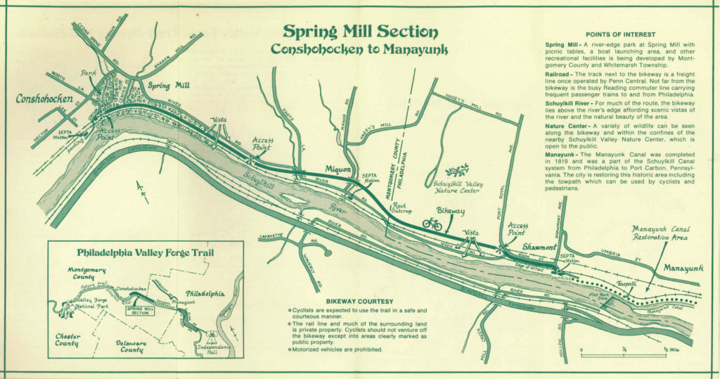 Shawmont to Spring Mill Trail Brochure 1980-p2