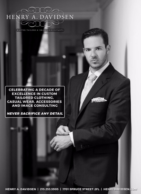 A full custom suit from Henry A. Davidsen - estimated value $1195