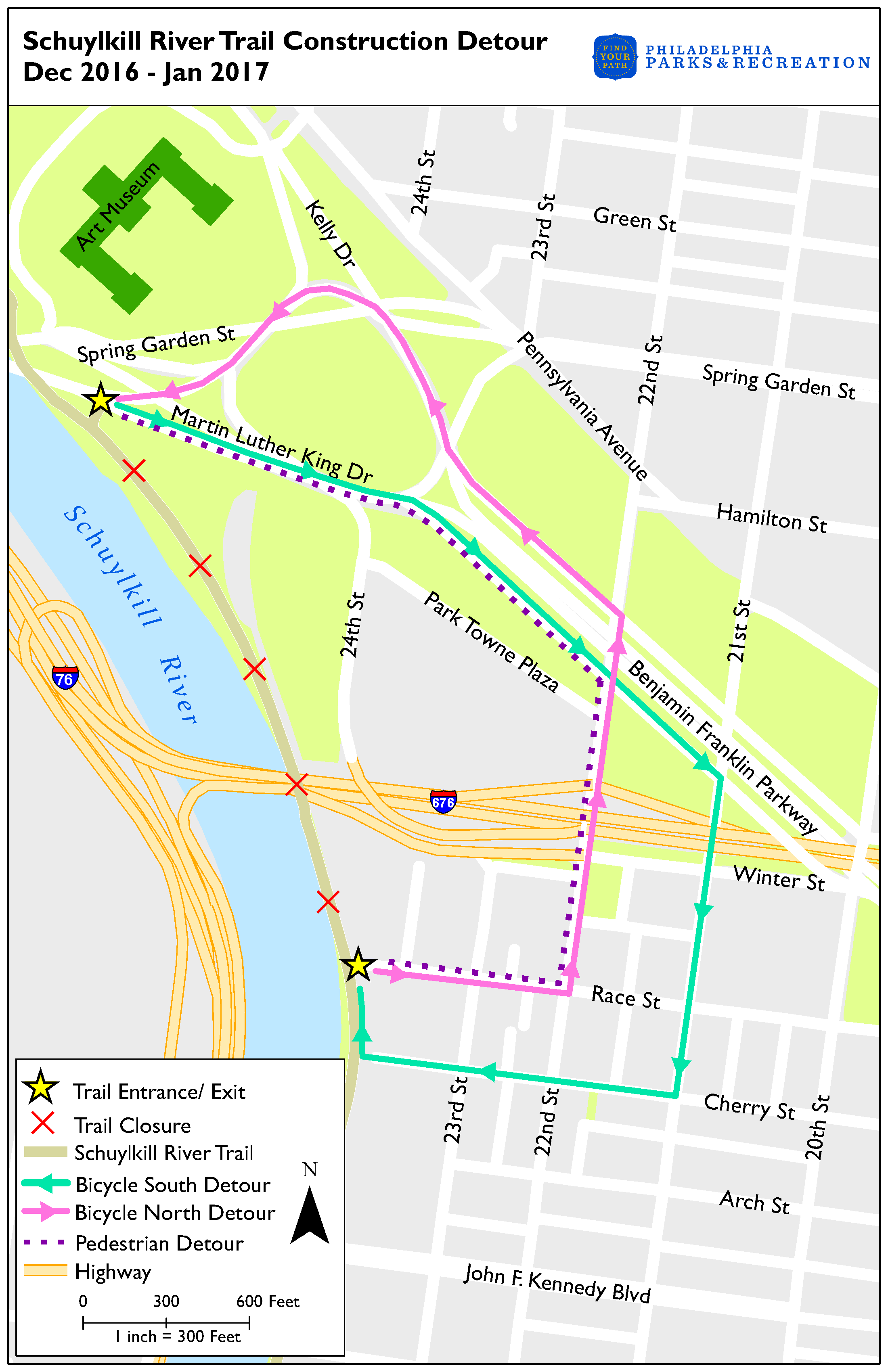 Update on SRT Closure Between MLK Drive & Race Street with ... on map of phila transportation, map of phila airport, map of phila restaurants,