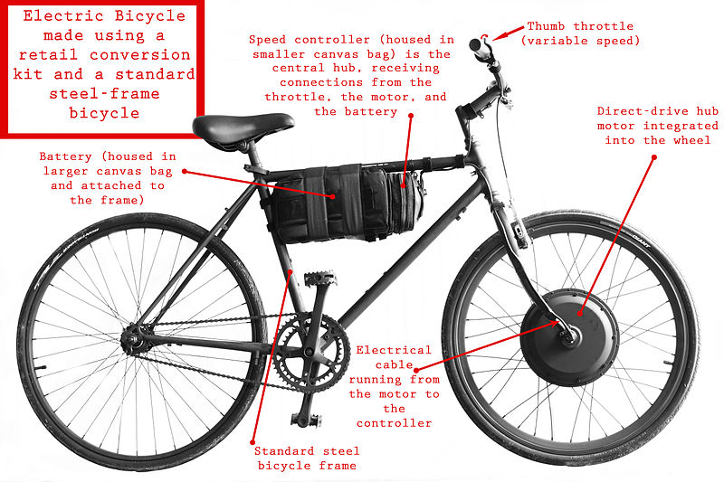 Modified Electric Bicycle From Regular Bike