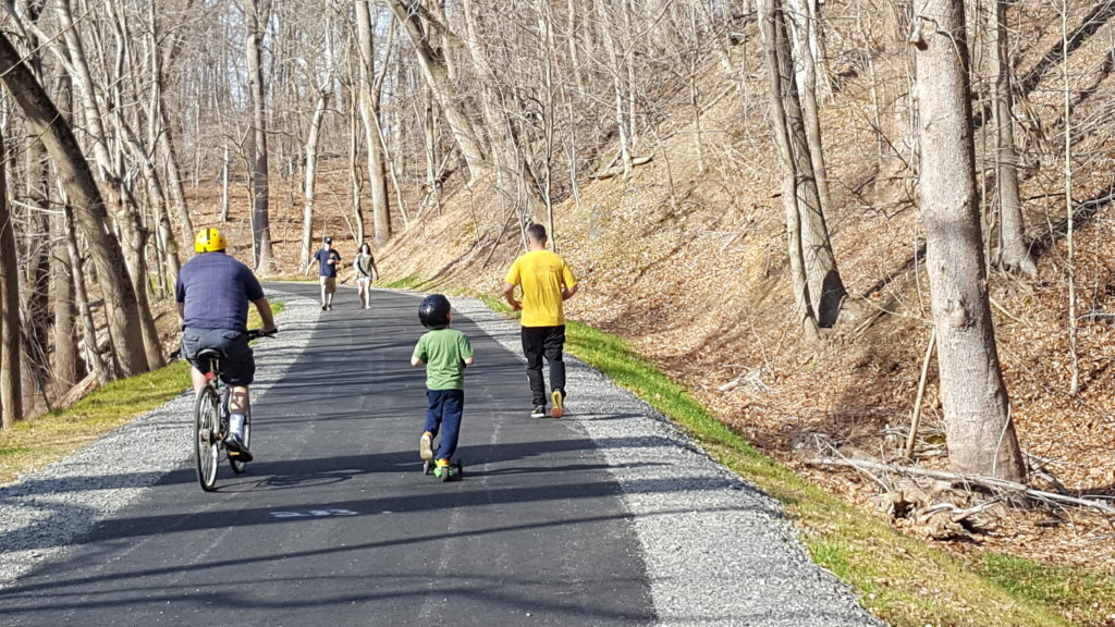 People using the Chester Creek Trail