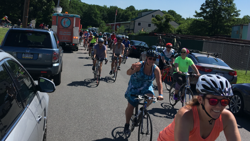 Hundreds of cyclists come out for bikes and beers at for Flying fish bikes