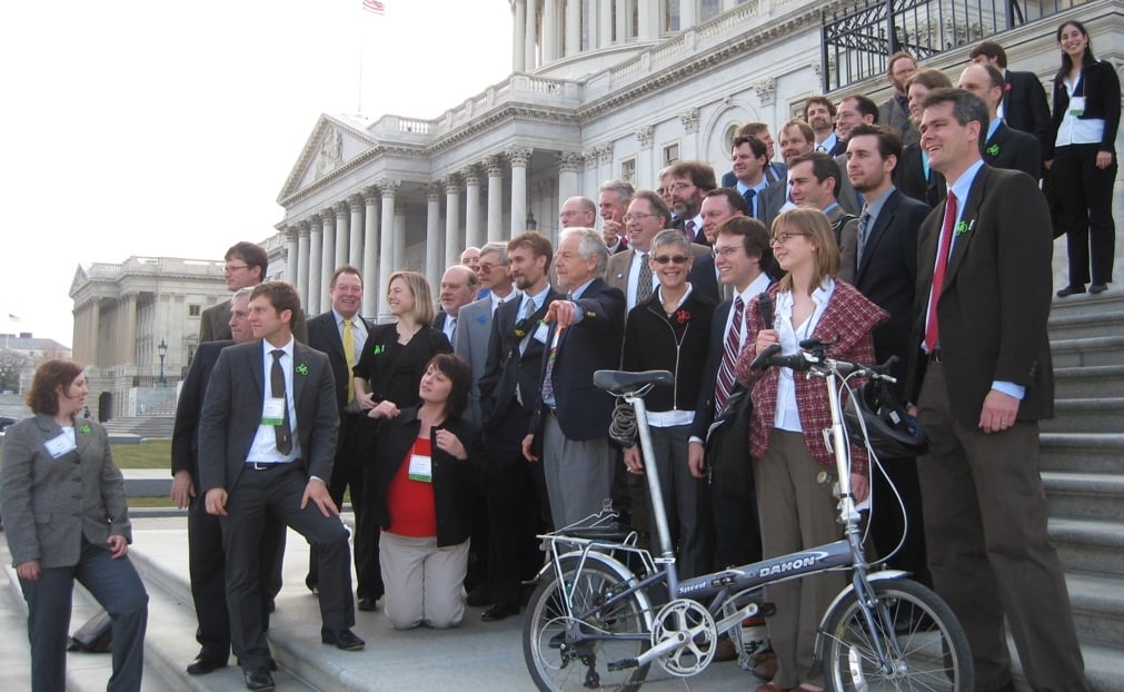 The PA Delegation at the National Bike Summit in 2010.