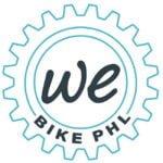 We Bike PHL Logo in the shape of a gear